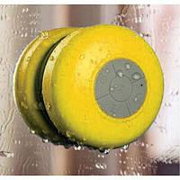 Портативная колонка MP3 для душа водонепроницаемая желтая