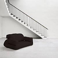 """Диван кровать""""hippo"""" черный, бескаркасный диван, диван раскладной,маленький диван,диван трансформер."""