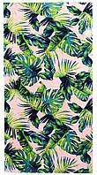 Пляжное полотенце Листья пальмы (велюр-махра) 75х155.