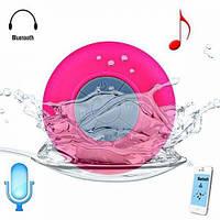 Портативная колонка MP3 для душа водонепроницаемая розовая
