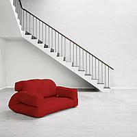 """Диван кровать""""hippo"""" красный, бескаркасный диван, диван раскладной,маленький диван,диван трансформер."""
