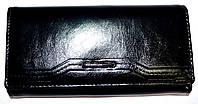 Женский черный кошелек кожзаме Cossroll на кнопке , фото 1