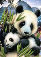 """Набор алмазной мозаики """"Милые панды"""""""