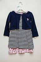 Комплект: Трикотажные 2 платья, болеро, трусы для девочки U.S. POLO ASSN