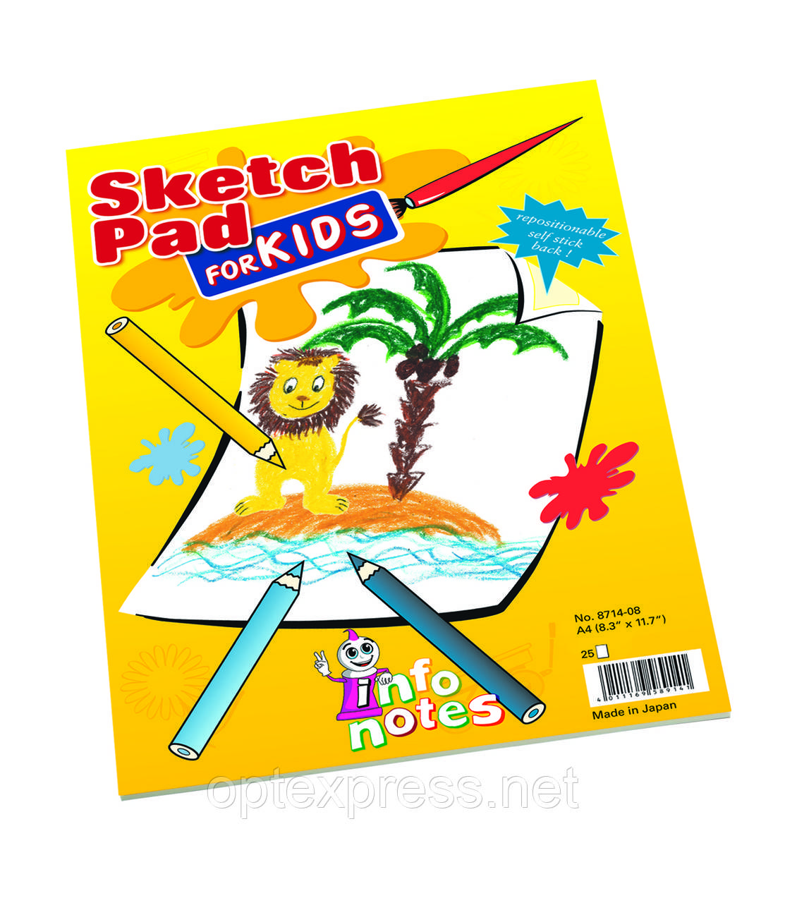 Альбом формата А 4 с клейкими листочками для рисования
