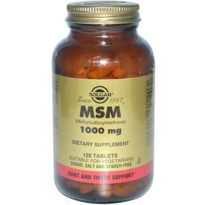 Метилсульфонилметан, Solgar, 120 таблеток