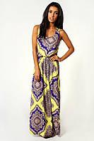 Фиолетово-желтое платье BooHoo