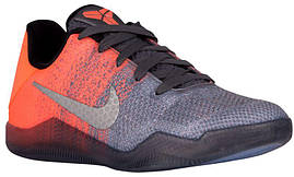 Кроссовки/Кеды (Оригинал) Nike Kobe XI Elite Low Dark Grey/Bright Mango/Cour Purple/Volt