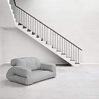 """Диван кровать""""hippo"""" св.серый, бескаркасный диван, диван раскладной,маленький диван,диван трансформер."""