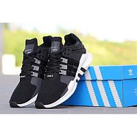 Мужские повседневные кроссовки Adidas Equipment EQT SUPPORT черные с белым