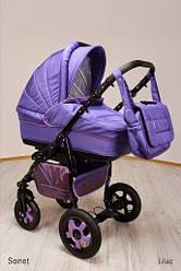 Детская коляска универсальная 2 в 1 Ammi Ajax Group Sonet New Lilac