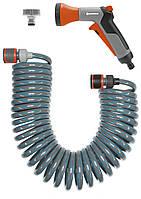 Шланг спиральний для терасс 10м + комплект полива Gardena