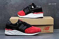 Кроссовки New Balance 999 черные с красным 2630