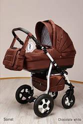 Детская коляска универсальная 2 в 1 Ammi Ajax Group Sonet New Chocolate