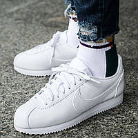 "Кроссовки Оригинал Nike Classic Cortez Leather ""All White"""
