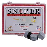 Наклейка для кия Tiger Sniper 14мм Medium/Hard 1шт.