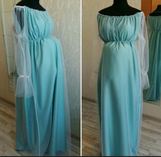 Нежное платье для беременной красавицы.