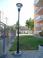 Светильник уличный с опорой КО-4 РТУ 09В 80-182, ДРЛ лампа (комплекс осветительный Ориентир)