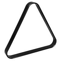 Треугольник для русского бильярда Стандарт пластик черный 68мм