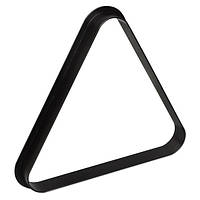 Треугольник для пула Стандарт пластик черный 57,2мм
