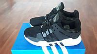Мужские беговые кроссовки Adidas Equipment+EQT черные с белым