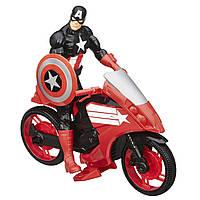 Фигурка Hasbro Avengers Мстители на транспортном средстве - Капитан Америка (B0431)