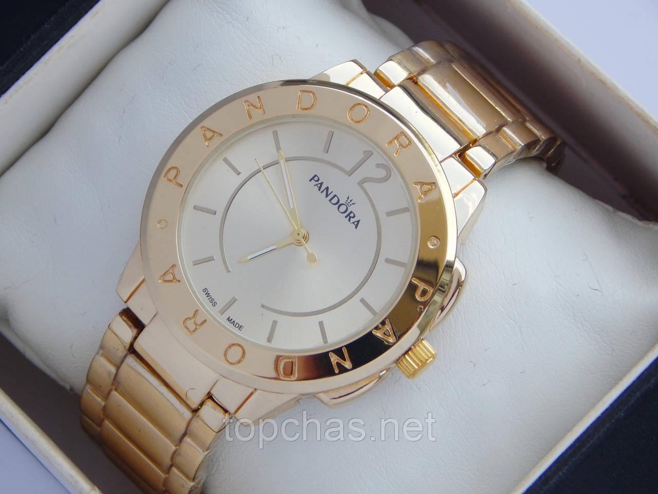 Женские кварцевые наручные часы Pandora золотого цвета - Top Chas -  Интернет магазин Вашего стиля в 1cee5834270