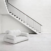 """Диван кровать""""hippo"""" белый, бескаркасный диван, диван раскладной,маленький диван,диван трансформер."""