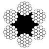 Канат стальной двойной свивки ЛК-Р 6х19(1+6+6/6)+1о.с. ГОСТ 2688