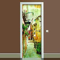 Наклейка на дверь Прованс 01 (виниловая наклейка, самоклейка, оклеить дверь)