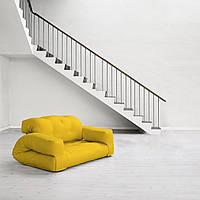 """Диван кровать""""hippo"""" желтый, бескаркасный диван, диван раскладной,маленький диван,диван трансформер."""