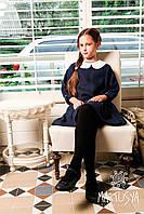 Школьное красивое платье для девочек из итальянского льна индивидуально на заказ