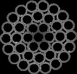 Канат стальной одинарной свивки ТК 1x37(1+6+12+18) ГОСТ 3064