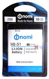 Батарея Nomi NB-51 для Nomi i500 1800мА/ч Original
