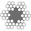 Канат стальной двойной свивки ЛК-0 6х7(1+6)+1о.с. ГОСТ 3069