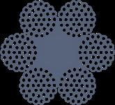 Канат сталевий подвійного звивання 6х37(1+6+12+18)+1о.с. ГОСТ 3071