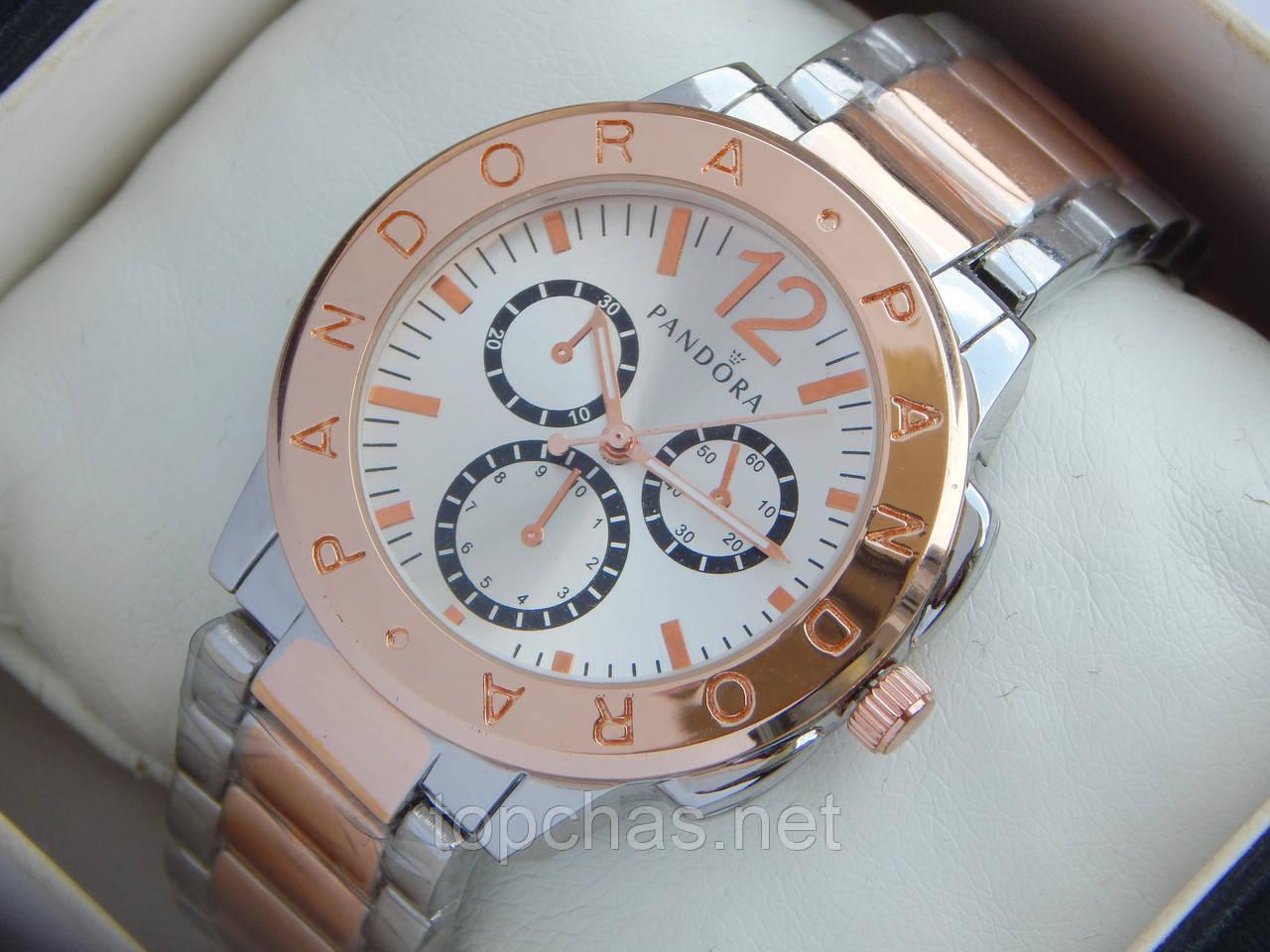 Женские кварцевые наручные часы Pandora комбинированные, розовое золото -  Top Chas - Интернет магазин Вашего b2f858230d3