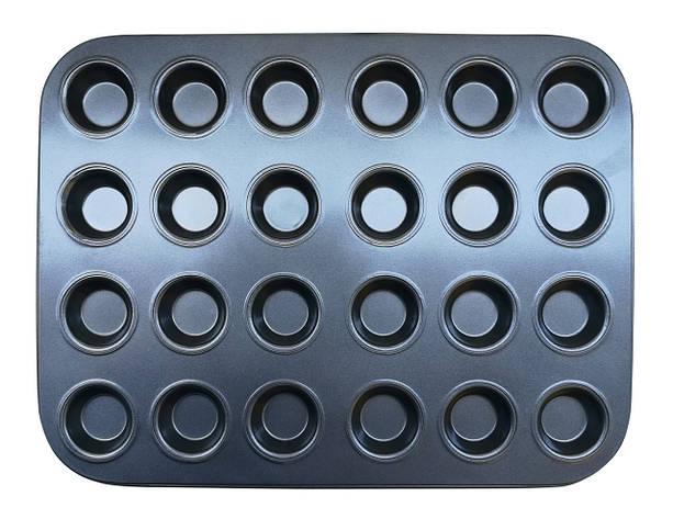 Форма для выпечки кексов 24 шт тефлон, фото 2