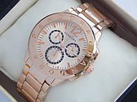 Женские кварцевые наручные часы Pandora с дополнительными циферблатами, розовое золото