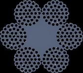 Канат стальной двойной свивки ТЛК-0 6х37(1+6+15+15)+1о.с. ГОСТ 3079-80