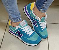 Женские Кроссовки New Balance, цвет: мята с голубым