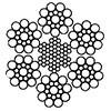 Канат стальной двойной свивки ЛК-0 6x19(1+9+9)+7x7(1+6) ГОСТ 3081