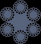 Канат стальной двойной свивки ЛК-0 6х30(0+15+15)+7о.с. ГОСТ 3083-80