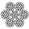 Канат стальной двойной свивки ЛК-3 6х25(1+6;6+12)+7х7(1+6) ГОСТ 7667