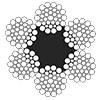 Канат стальной двойной свивки ЛК-РО 6х36(1+7+7/7+14)+1о.с. ГОСТ 7668
