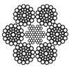 Канат сталевий подвійного звивання ЛК-РО 6хЗ6(1+7+7/7+14)+7х7(1+6) ГОСТ 7669