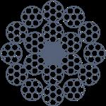 Канат стальной двойной свивки ЛК-О многопрядный 18x7(1+6)+1o.c. ГОСТ 7681