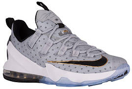 Кроссовки/Кеды (Оригинал) Nike LeBron XIII Low Cool Grey/Metallic Gold/White/Black