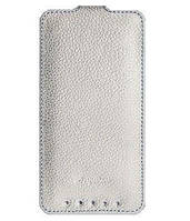 Melkco Jacka leather case for HTC One Dual Sim, white (O2M7DSLCJT1WELC)