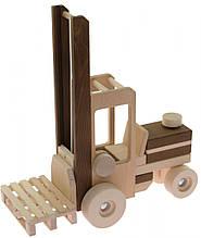 Детская игрушка Машинка деревянная Автопогрузчик goki 55901